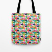 chelsea Tote Bags featuring Chelsea Dot by Elephant & Rose