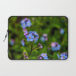 Forget-me-nots In The Rain Laptop Sleeve