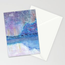Watercolor Blue Island Stationery Cards