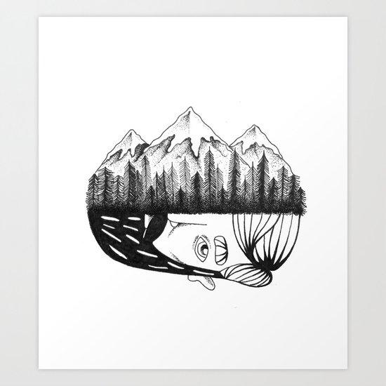 Mountain Child  Art Print