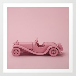 Retro toy car Art Print