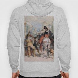 A Street Scene In Granada On The Day Of The Bullfight - John Frederick Lewis Hoody