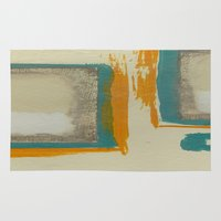 rothko Area & Throw Rugs featuring Soft And Bold Rothko Inspired by Corbin Henry