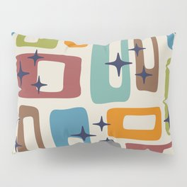 Retro Mid Century Modern Abstract Pattern 224 Pillow Sham