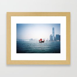 Hong Kong Junk Framed Art Print