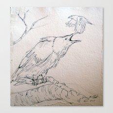 Crow Sketch #2 Canvas Print