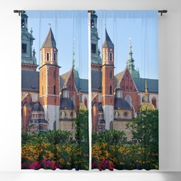 Cracow in flowers Blackout Curtain