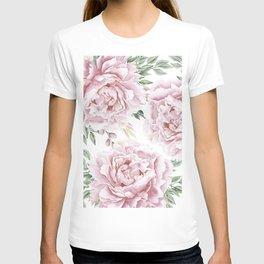 Beautiful Pink Roses Garden T-shirt