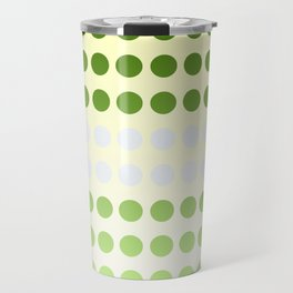 Dots in a Row in Olive and Cream Travel Mug