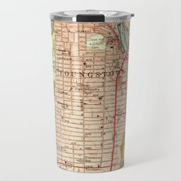 Vintage Map of Youngstown Ohio (1951) Travel Mug