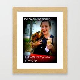 Ice Cream for Dinner Framed Art Print
