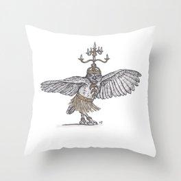Tiny Dancer - Shamadan Owl Throw Pillow