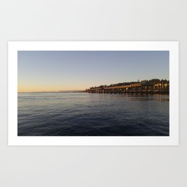 Campbell River Pier Art Print