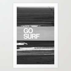 Go Surf Art Print