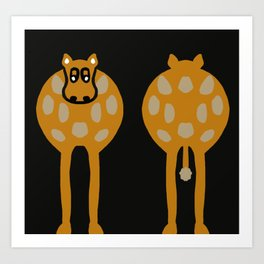 Double Ended Cow Humour Art Print