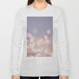 Pink Blurry Circles (Color) Long Sleeve T-shirt