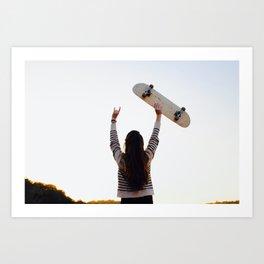 for the love of skateboarding Art Print