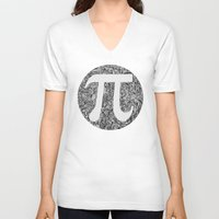 pi V-neck T-shirts featuring PI by Nora