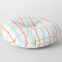 Modern gridlines Floor Pillow