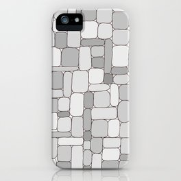 Stone Wall #4 - Grays iPhone Case