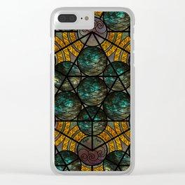 Platonic Solid Icosahedron - Aqua Clear iPhone Case