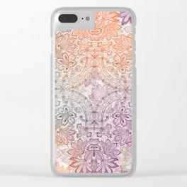 lace burst Clear iPhone Case
