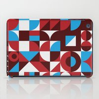 mid century modern iPad Cases featuring Chill Vibes - Retro 1960s Mid Century Modern Print by BoomCat