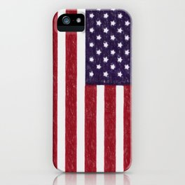 USA flag - in Crayon iPhone Case