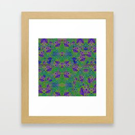 """Be yourself (Pop Fantasy Colorful Pattern)"" Framed Art Print"