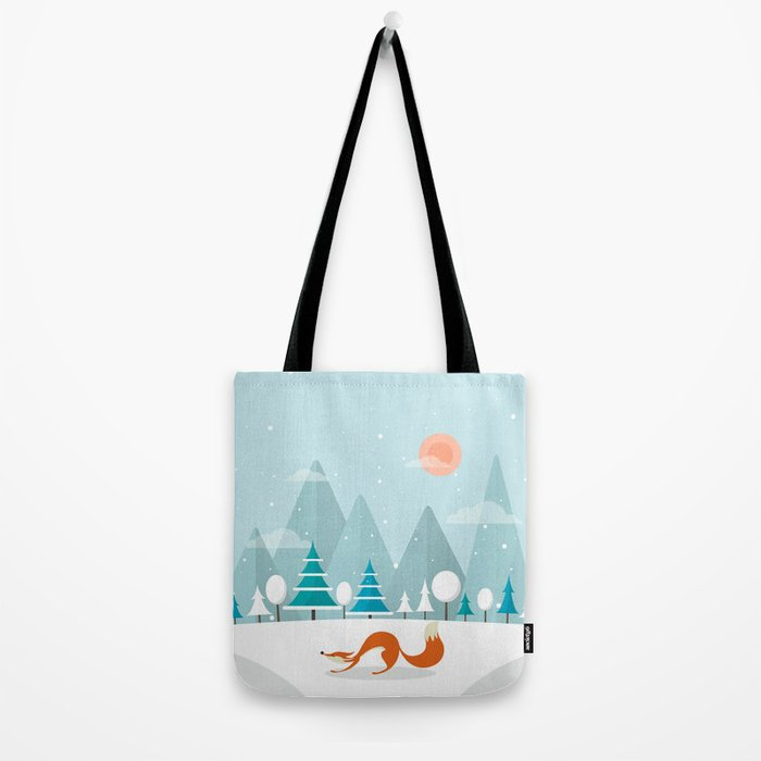 The Fox Is Back Tote Bag