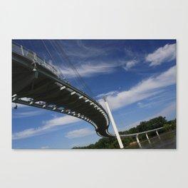 The Pedestrian Bridge  Canvas Print