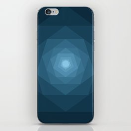 Blue Tunnel iPhone Skin