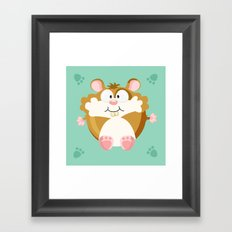 Hamster from the circle series Framed Art Print