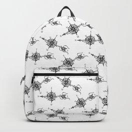 Compass with Arrow (Tattoo stule) Backpack
