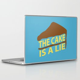 The Cake Is A Lie (Blue Version) Laptop & iPad Skin