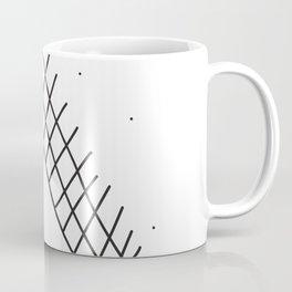 campfire under stars, linear geometric. Coffee Mug