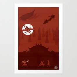 Avatar - Fire Book Art Print