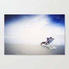 Chilling at the Beach Canvas Print