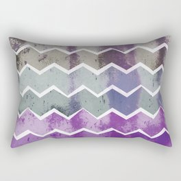 CHEVRON STRIPES - PURPLE Rectangular Pillow