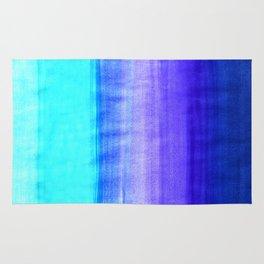 Ocean Horizon - cobalt blue, purple & mint watercolor abstract Rug