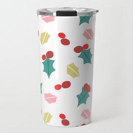 cute mistletoe white Travel Mug
