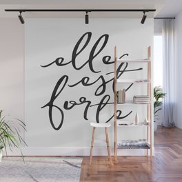 ELLE EST FORTE, Proverbs 31:25, She Is Strong,Scripture art,Bible Verse,Bible Scripture Wall Mural