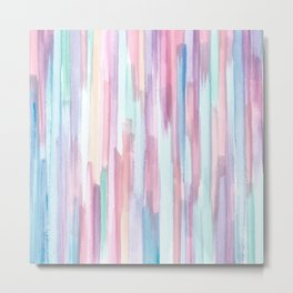 Colorful Watercolor Abstract Pattern Metal Print