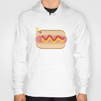 hot dog Hoodies featuring hot dog by Alba Blázquez