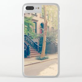 West Village Perry Street New York City Clear iPhone Case