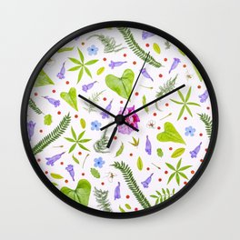 Leaves and flowers (8) Wall Clock