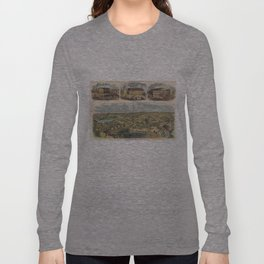 Vintage Pictorial Map of Richmond Virginia (1862) Long Sleeve T-shirt