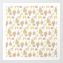 Wedding Pattern Art Print
