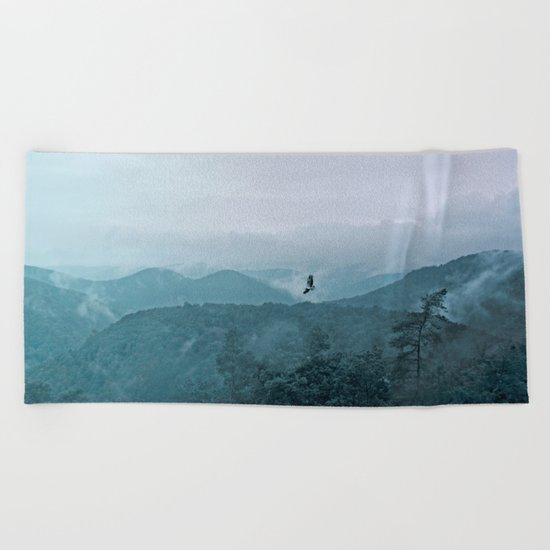 Blue smoky mountains Beach Towel