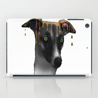 greyhound iPad Cases featuring Greyhound BW by Marlene Watson